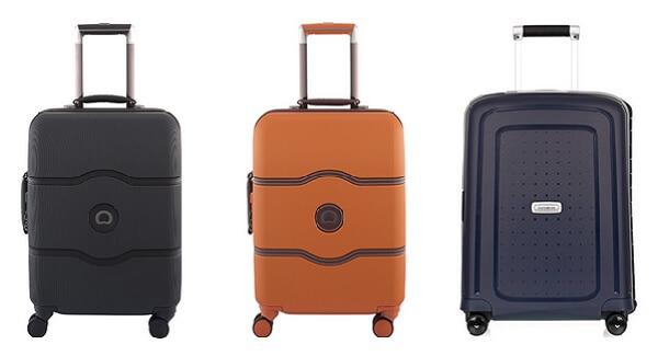 Tre stycken kabinväskor från CarrieAlong