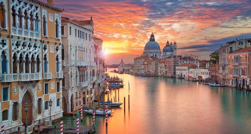 Solnedgång i Venedig